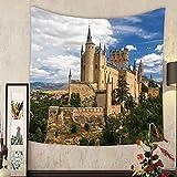 Grace Little Custom tapestry castle of segovia spain