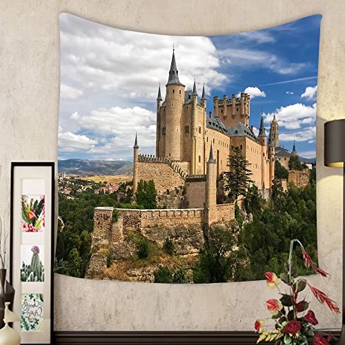 Grace Little Custom tapestry castle of segovia spain by Grace Little