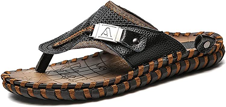 August Jim Sandals for Men Summer Breathable Comfort Non-Slip Wear-Resisting Casual Shoes