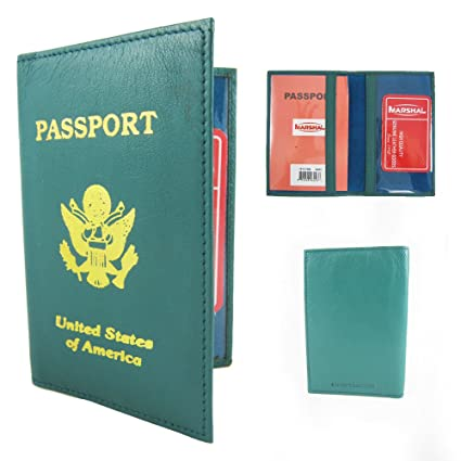 8ec12cdb590 Image Unavailable. Image not available for. Color  Genuine Leather US Passport  Cover ID Holder Wallet Travel Case Handmade ...