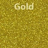 Glitter, Gold Heat Transfer Vinyl 19'' 1 Yard, 5 Yards, 10 Yards (10 Yards)