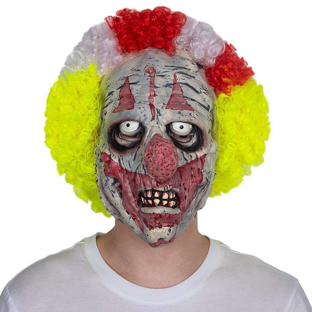 Littlefairy Máscara Halloween,Color de la Cara de Terror del Halloween con Pelo Payaso '-Mascara Peluca Divertida Performance Accesorios Fiesta