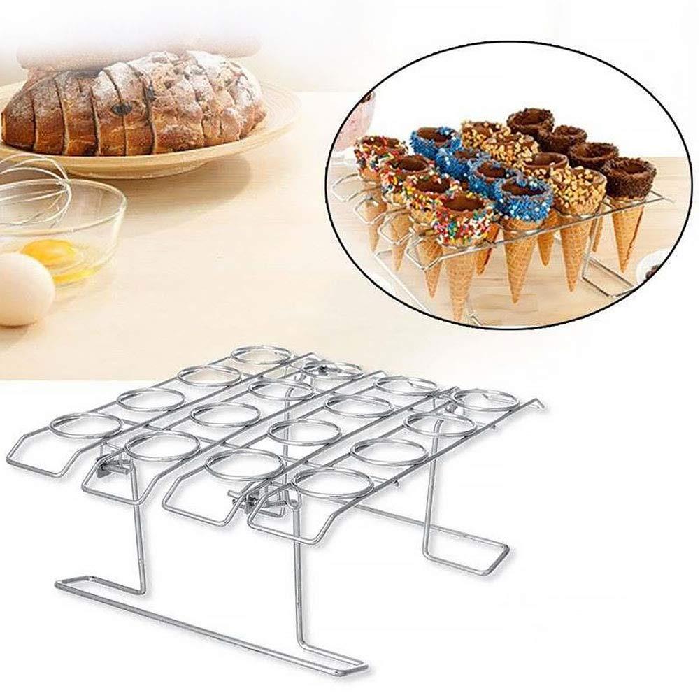 LYCOS3 Coni Cupcake Baking Rack Cake Display Supporto da Tavolo Vassoio Cone Ice Cream DIY graticola Cupcake Holder