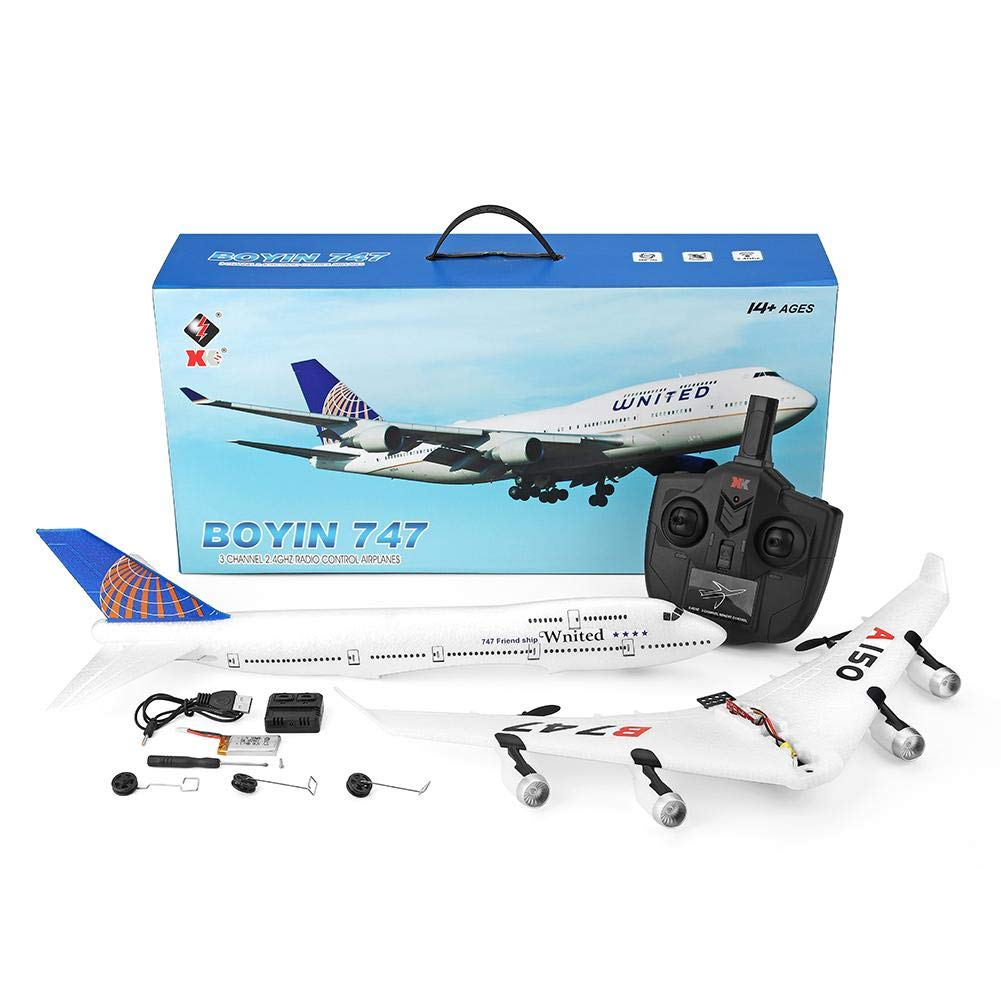 Bitcircuit Remote Control Airplane,3CH RC Airplane Boeing B747 Model Fixed Wing EPP Aircraft Toys