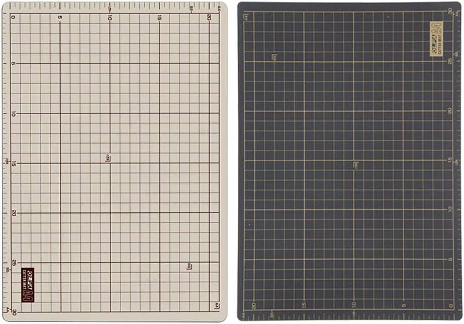 Tablero de Base de Corte A4, A4 PVC de Corte de Cuero Patchwork Almohadilla Tablero Manual de la Estera de Bricolaje de Doble Cara de Corte rotativo de Costura Que acolcha: Amazon.es: