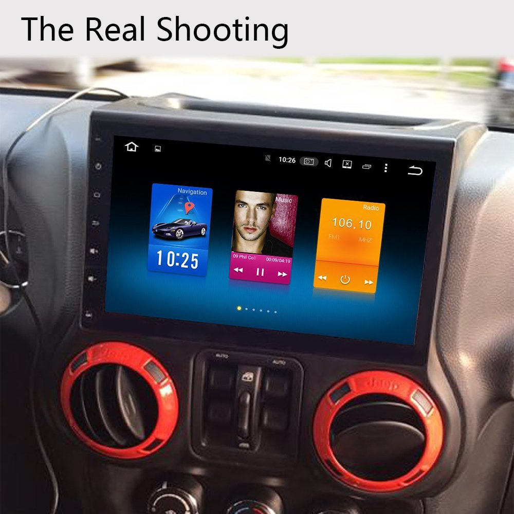 Dasaita Andriod 8 0 10 2 inch Large Screen Unviersal Single Din Car GPS  Stereo 4G+32G OCTA-Core Chip For Jeep Wrangler 2015 2016 2017 With Blutooth