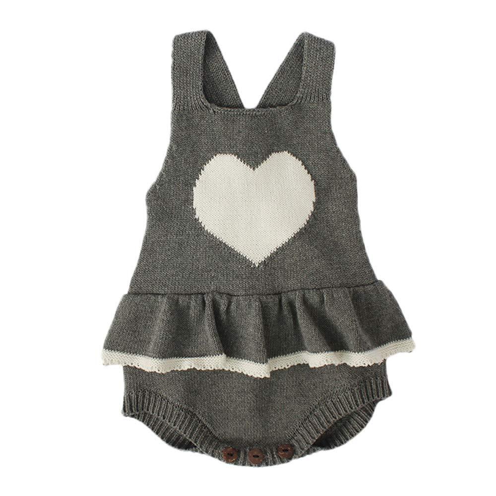 41db59612664 Amazon.com  Newborn Baby Knit Overalls