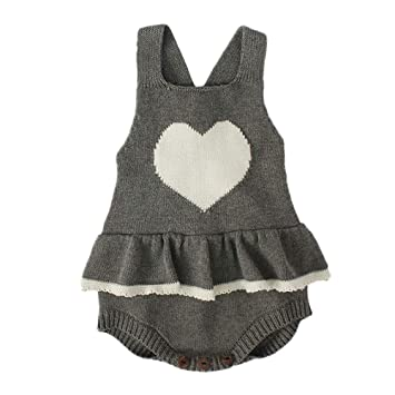 eec92ac70 Amazon.com  Newborn Baby Knit Overalls
