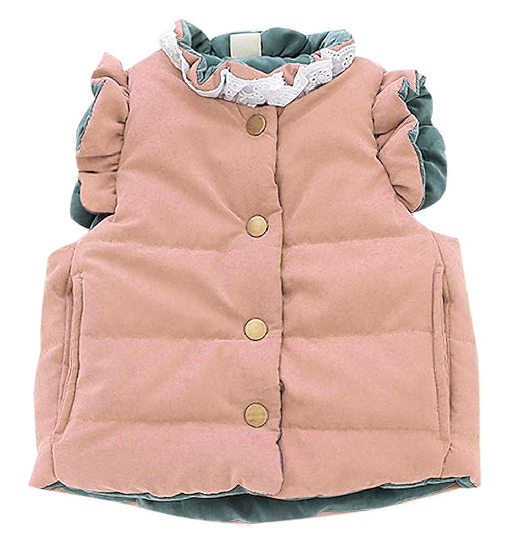 Baby Girls Warm Vest Cotton Jacket Sleeveless Coat Kids Winter Thick Gilet 1-3 Years