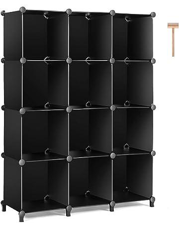 TomCare Cube Storage 12 Cube Bookshelf Closet Organizer Storage Shelves  Shelf Cubes Organizer Plastic Book