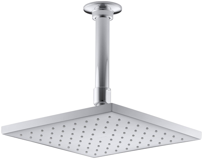 KOHLER K-13695-CP 8-Inch Contemporary Square Rain Showerhead ...