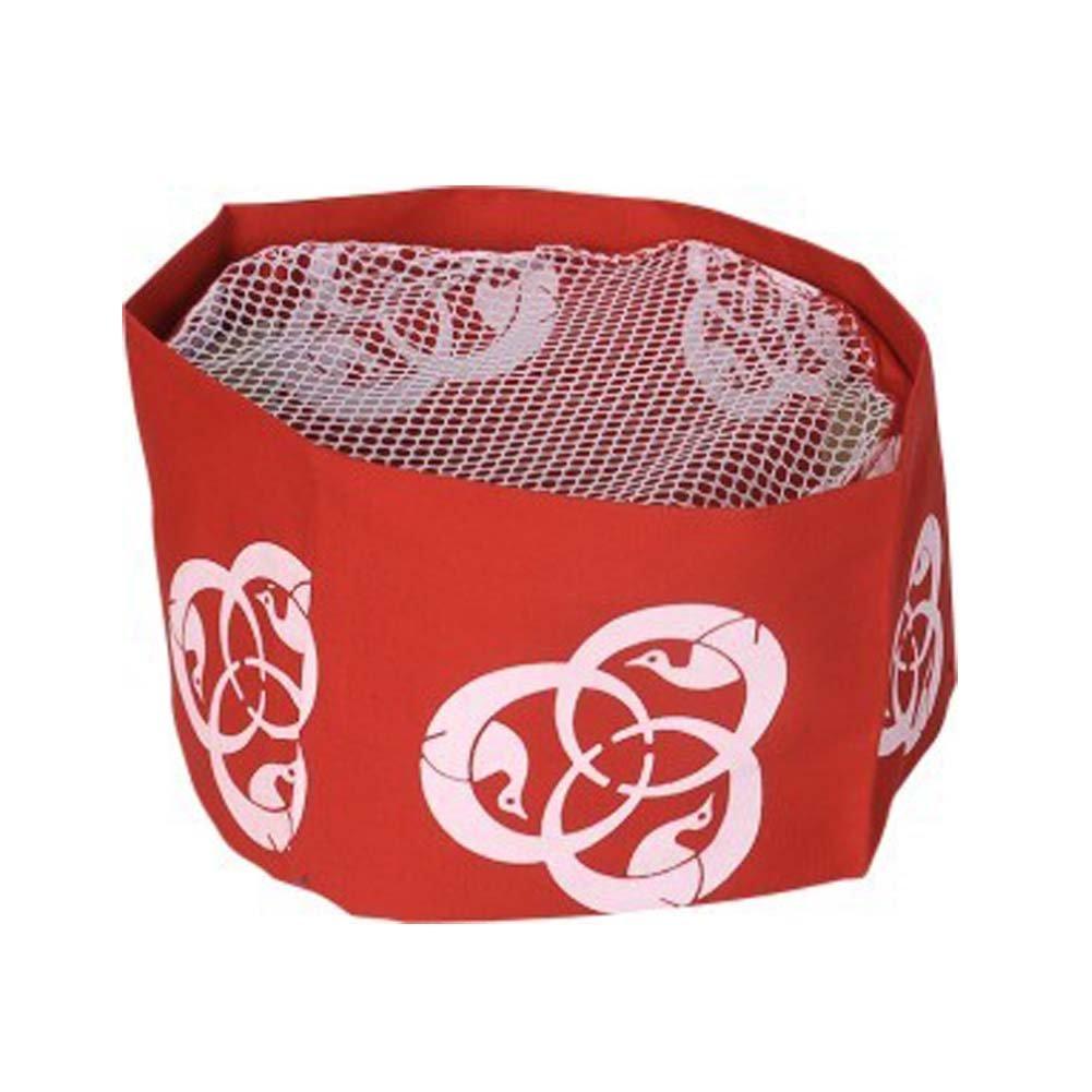 Japanese Sushi Chef Hat Teppanyaki Cap Mesh Top Chef Skull Cap for Unisex, Red