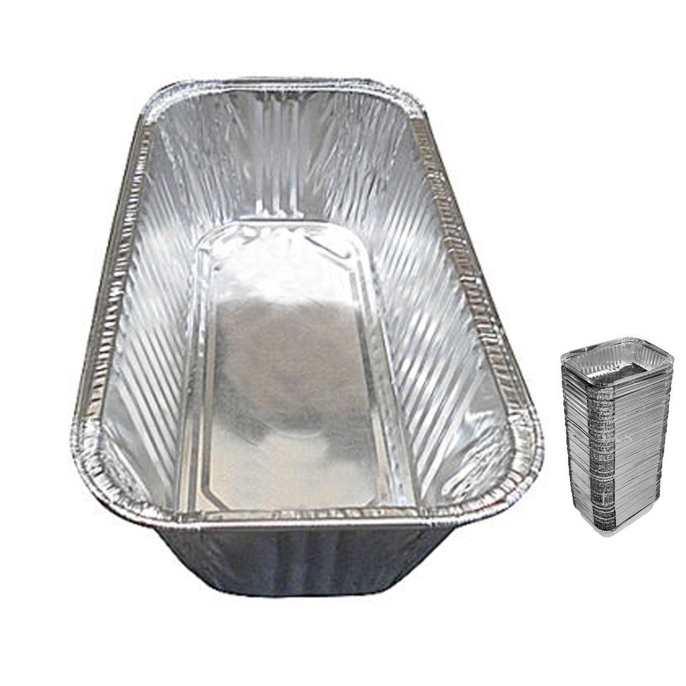 100 Pack 3 Lb Aluminum Foil Loaf Pan Disposable Bread Container Baking Loafbread