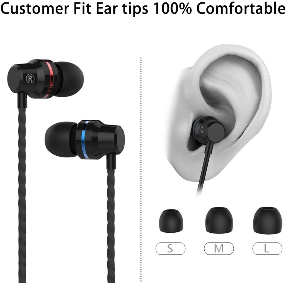 BDKING Wireless Headset, Wireless Headphones,Hands-Free Calling Earphones Sport Driving Earbuds Built-in-Mic Charging Case Compatible phoneX 8 7 Android-12