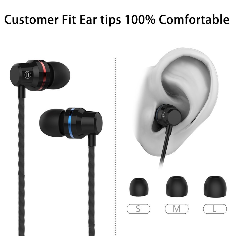 BDKING Wireless Earbuds, Wireless Headphones,Hands-Free Calling Earphones Sport Driving Earbuds Built-in-Mic Charging Case Compatible phoneX 8 7 Android 001369