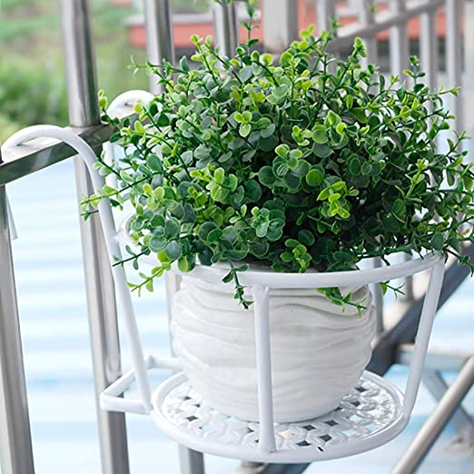 Puesto de plantas Soporte de flor de barandilla de hierro forjado ...