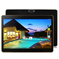 "10.1"" inch Android Tablet PC,2GB RAM 32GB Storage Phablet Tablet Quad Core Unlocked 3G Cell Phone Tablets, Dual Camera Sim Card Slots, WiFi, GPS, Blue-Tooth 3.0,HD IPS Screen Display(Black)"