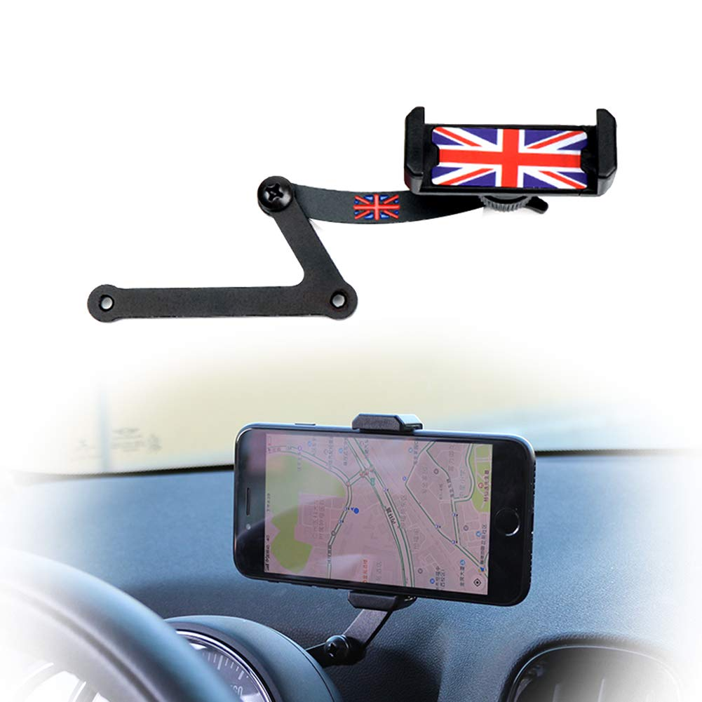 PGONE Behind Tachometer Mount Smart Phone GPS Mounting Design Holder Kit for Mini CooperF54 F55 F56 F57 F60 Union Jack (Red & Blue Union Jack Flag Style) by PGONE (Image #1)