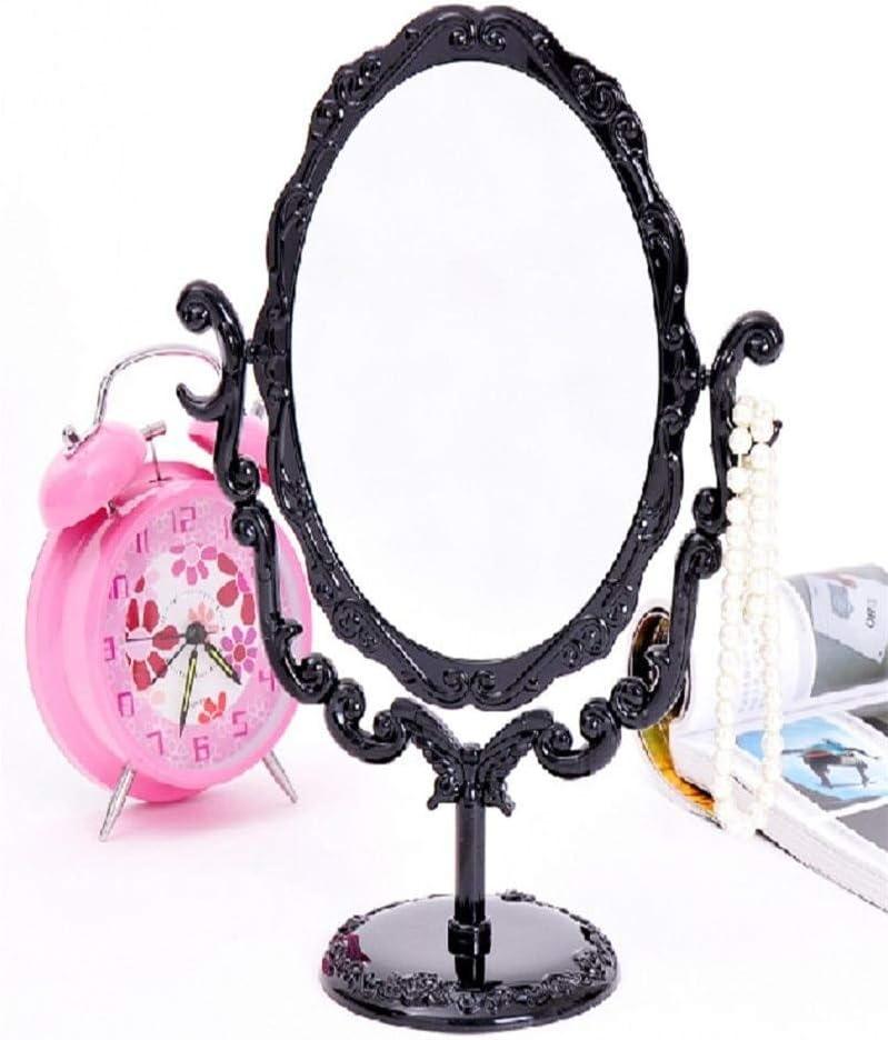 Miroir gothique rotatif de bureau de miroir de maquillage avec loutil cosm/étique de d/écoration de papillon Rose et de vignes