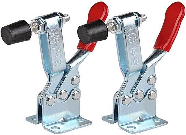 E-TING 4Pcs Hand Tool Toggle Clamp  Antislip Red Horizontal Clamp 201-B Quick Re