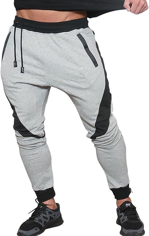 Men/'s Baggy Pants Bodybuilding Workout Trousers Joggers Cotton 2019 Clothing Man