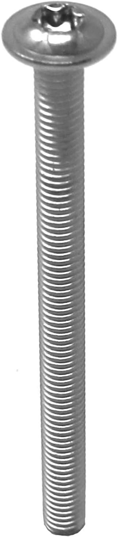 acero inoxidable A2 V2A rosca completa tornillo de brida plana M6x35 ISO 7380-2 10 Tornillos de cabeza plana con brida TX tornillo de lenteja