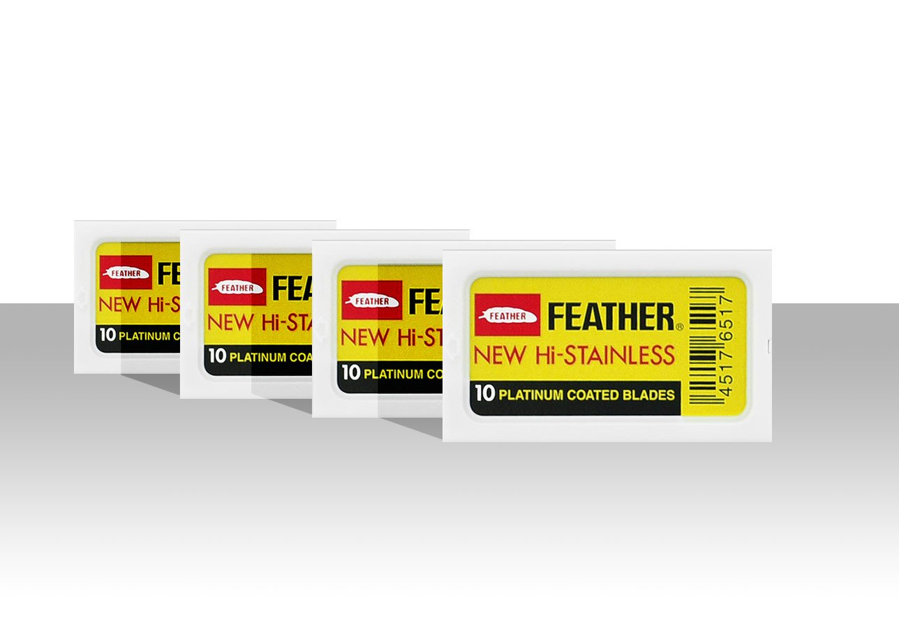 Feather - Pack de 40 cuchillas de doble hoja The Goodfellas' smile