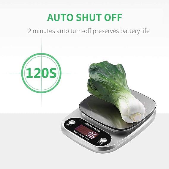 himaly Báscula de Cocina Digital Básculas Digitales Cocina de Acero Inoxidable Balanza de Alimentos Multifuncional de Alta Medicíon Precisa Pantalla LCD ...