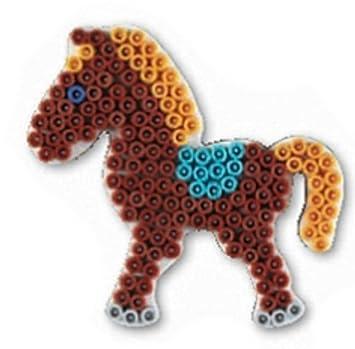 HAMA midi Bügelperlen-Stiftplatte weiß Nr.321 Pony Pferd