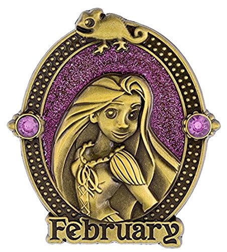 Disney Parks Princess Birthday Birthstone Pin - Rapunzel - February (Pins Disney Birthday)