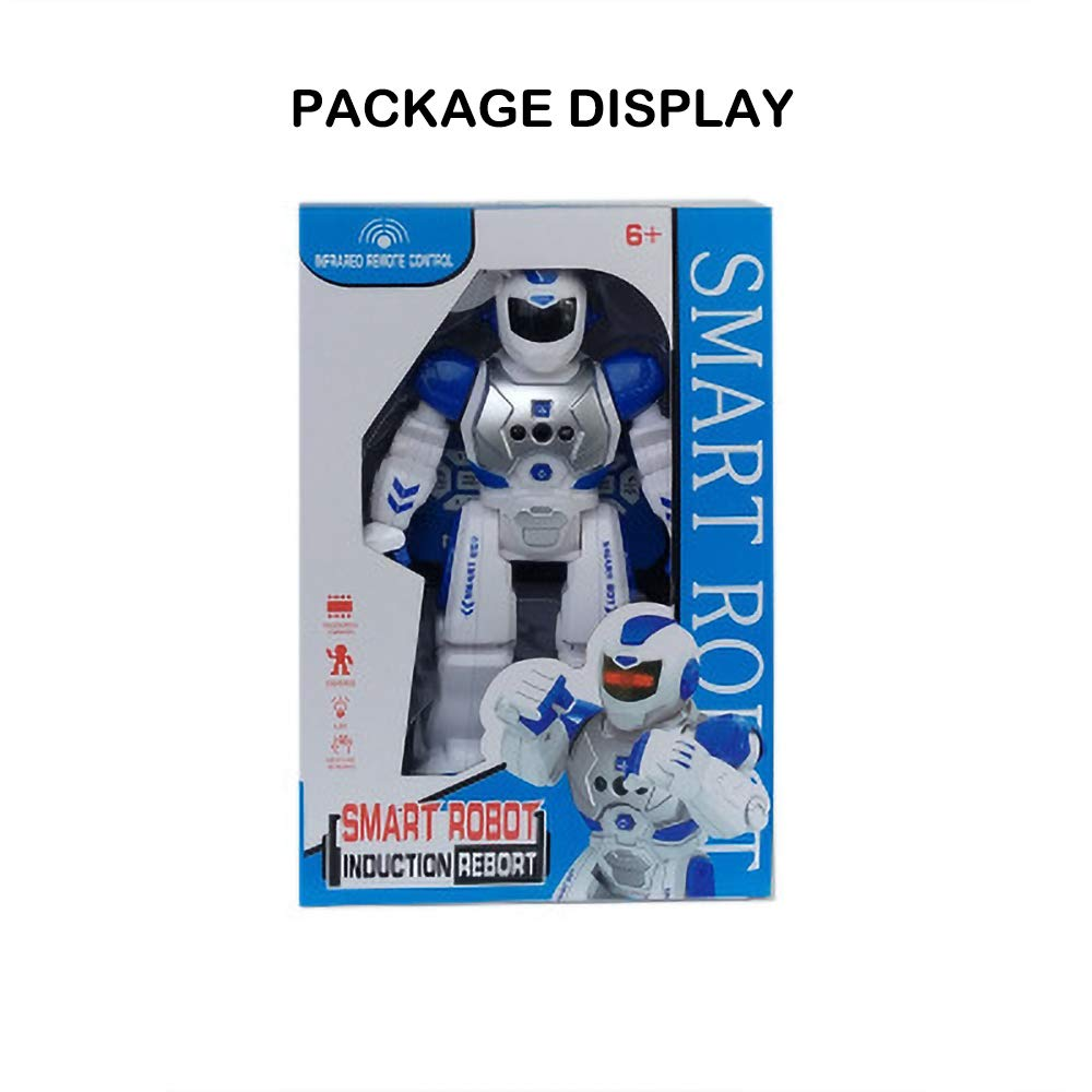 Robot T/él/écommand/é Programmable ACOC Robot De La T/él/écommande RC Robot Cadeau De Jouet pour Les Enfants Les Adultes Animation des Enfants,Voix Intelligente D/étection De Geste