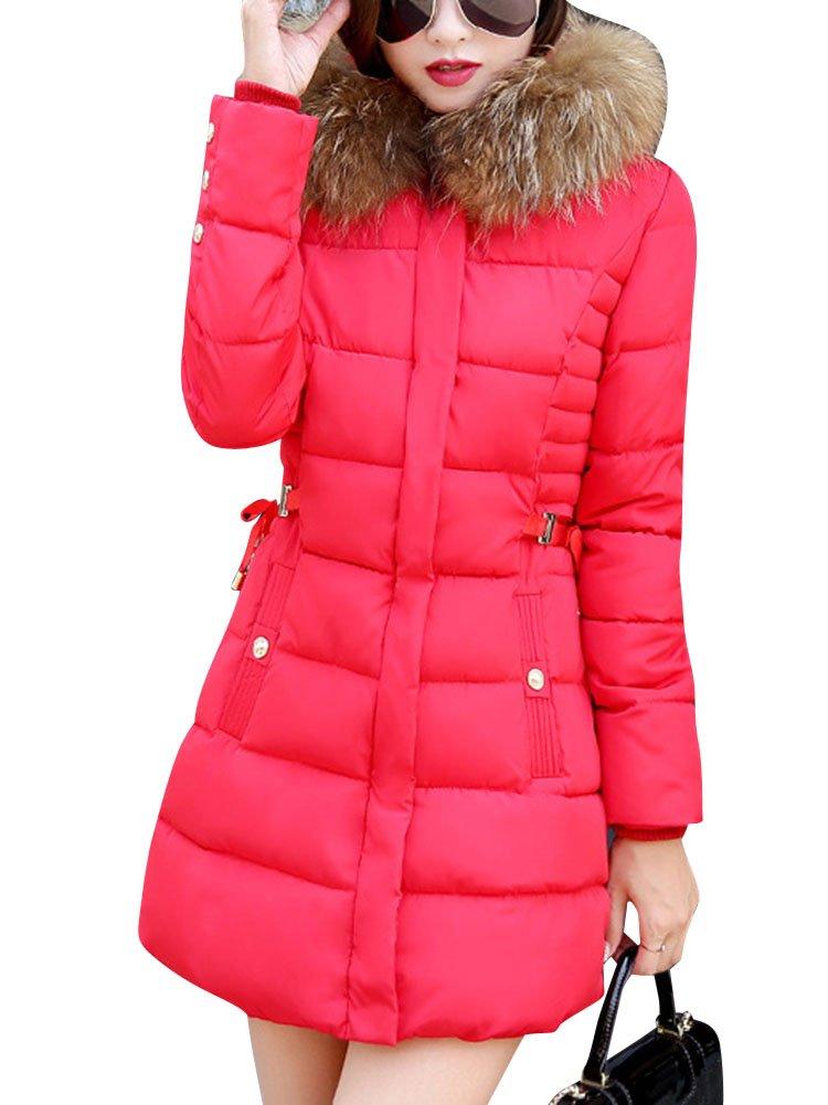 LaoZan Abrigo de mujer Abrigo de chaqueta acolchada de invierno Con capucha anorak Larga abrigo
