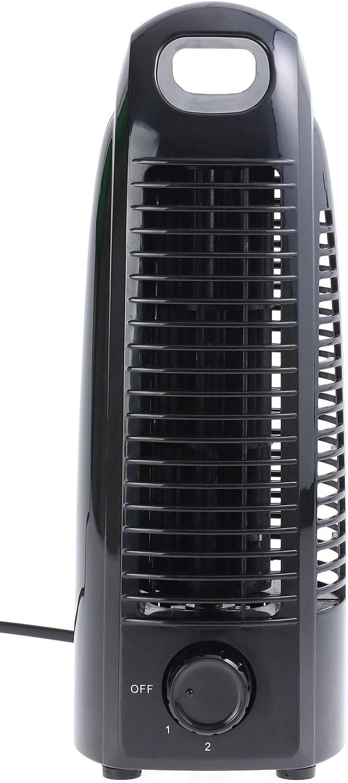 Nicht-Oszillierend Metall Ventilator mit 2 Geschwindigkeitsstufen B/üro /& Schlafzimmer Kompakter Retro Tischventilator f/ür zu Hause Opus 2 Turmventilator Leise Schwarz H/öhe: 27.5 cm