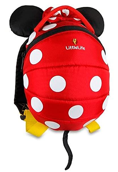 a75e5537302 LittleLife Disney Red Minnie Mouse Toddler Backpack  Amazon.co.uk  Clothing