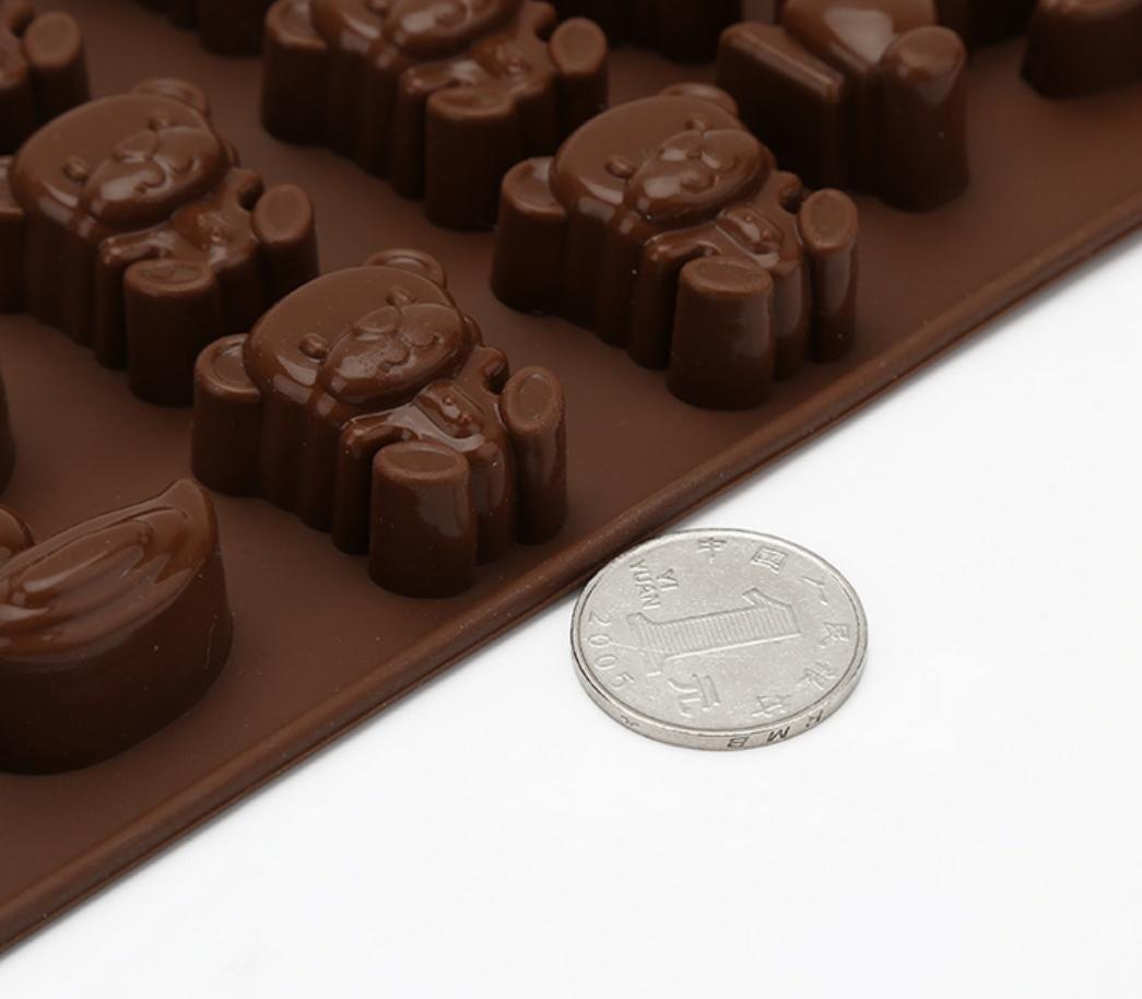 Molde chocolate hecho a mano DIY historieta sólida mano jabones con leche: Amazon.es: Hogar