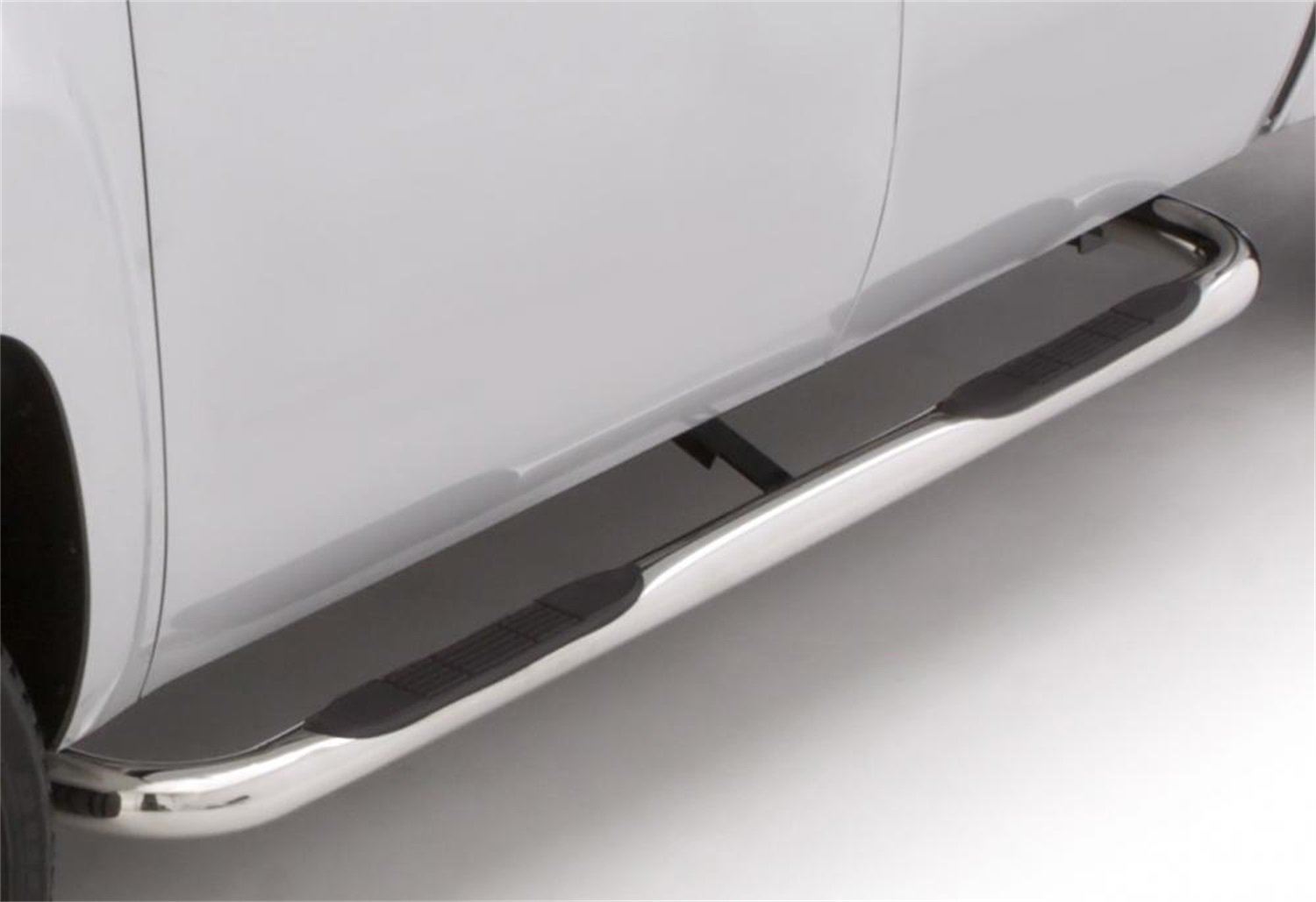 Lund 22610600 Polished Stainless Steel 3 Round Bent Nerf Bars for 2015-2018 Chevrolet Colorado//GMC Canyon Crew Cab