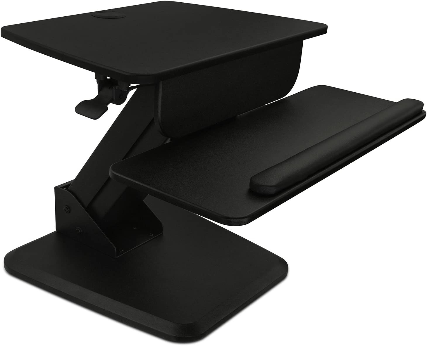 Mount-It! Sit-Stand Converter for Laptop, Desktop, Monitor, Ergonomic Free Standing Desk, Black (MI-7910)