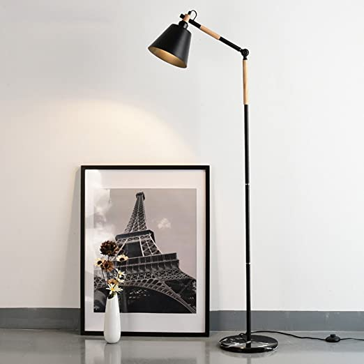 Lamparas de pie modernas lampara pie salon Negro Planta ...