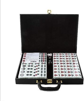 CHOUE Mahjong - Juego de Mesa (144 baldosas, Material acrílico, para Viajes): Amazon.es: Juguetes y juegos
