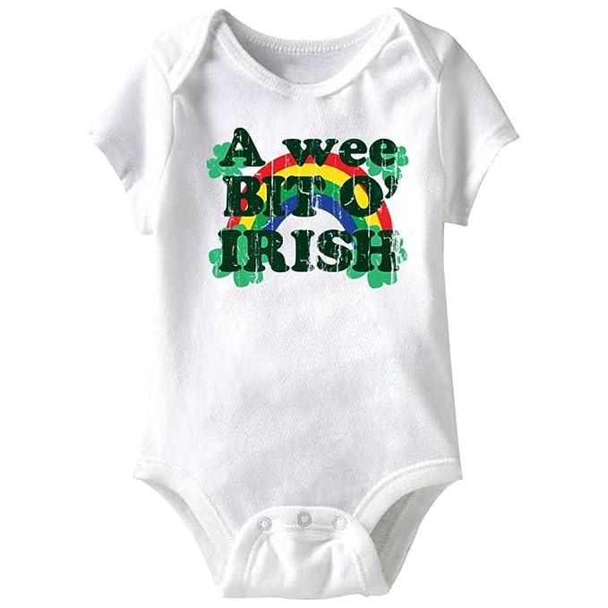 1201bbdd0 Amazon.com  A E Designs Baby Romper A Wee Bit O Irish Onesie  Clothing