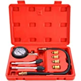 DASBET Petrol Gas Engine Cylinder Compression Tester 0-300 PSI 3' Gauge Kit Auto Tool with O Ring