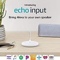 Echo Input - Bring Alexa to your own speaker (White)