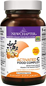 New Chapter Vitamin C - Activated C Food Complex for Immune Support + Organic Non-GMO Ingredients - 60 ct