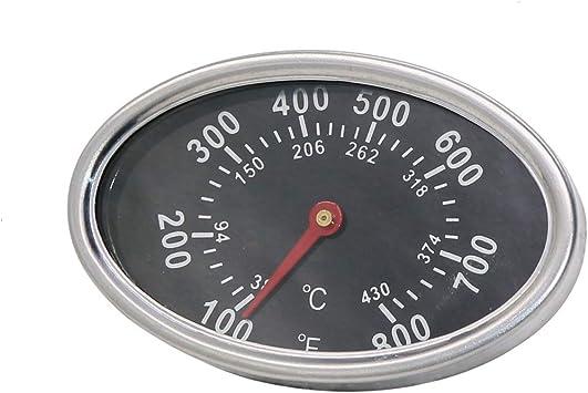 Acier Inoxydable Barbecue Smoker Grill Thermomètre Température Gauge 50-800 ° F 10-400 ℃