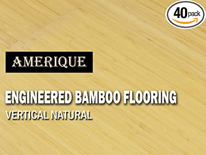 31.09SF//Ctn One Carton of 31.09SQFT AMERIQUE Prefinished 6 Engineered Bamboo Flooring Glueless Click Vertical Natural Color Premium Grade 4.5MM Top Layer 7-1//2 X 9//16 X 74-3//4