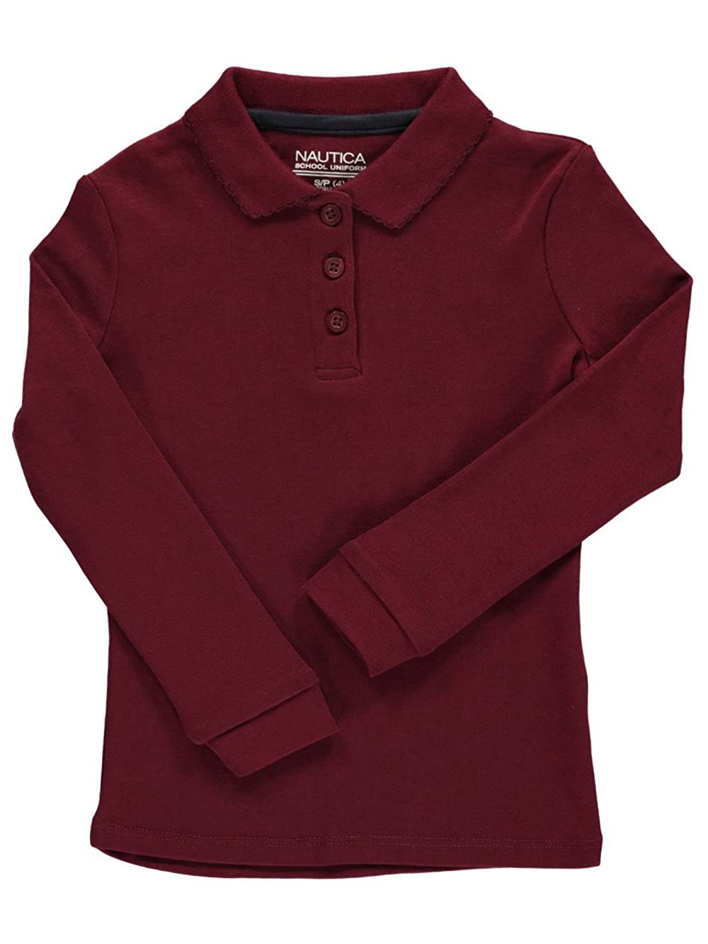 Nautica Girls L//S School Uniform Polo
