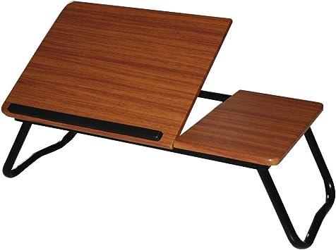 Mesa auxiliar multiusos baja color nogal doble tablero: Amazon.es ...