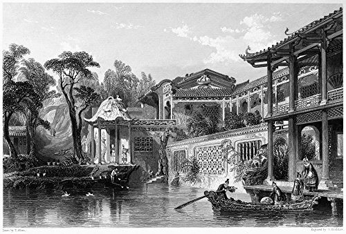 (China MerchantS Home Nthe House Of A Chinese Merchant In The Suburbs Of Canton Steel Engraving English 1843 After A Drawing By Thomas Allom Poster Print by (18 x 24))