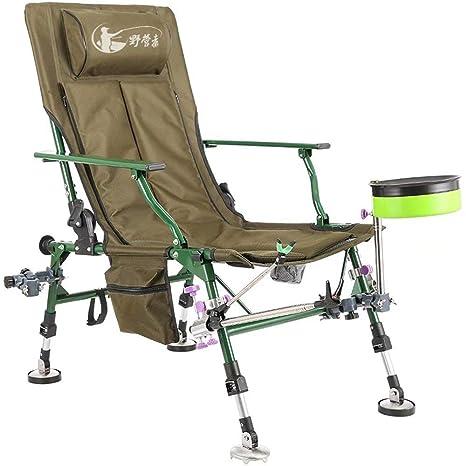 GG-Fishing chair Silla de Pesca Multiusos Silla reclinable ...