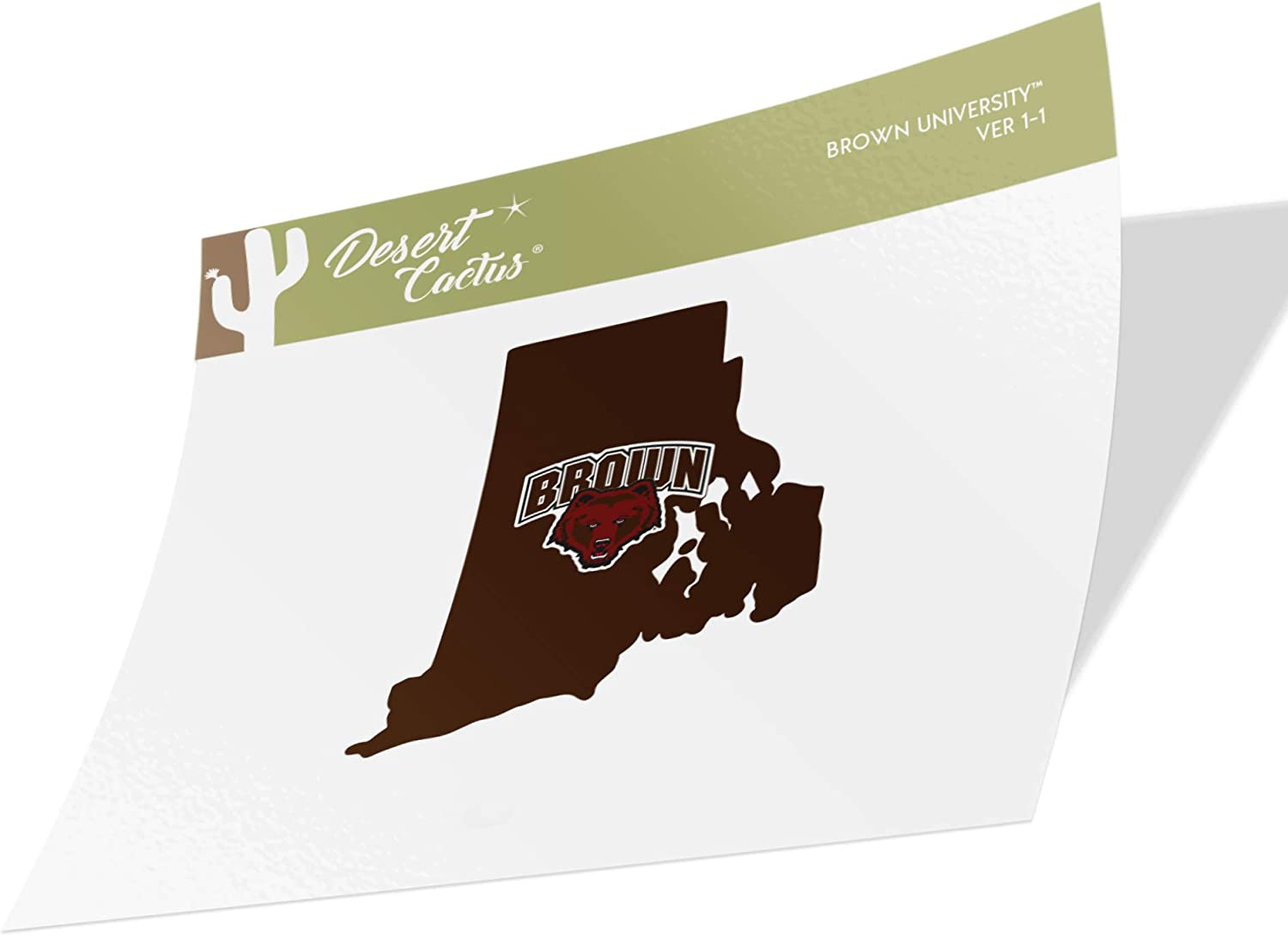 Type 2 Sheet Brown University Bears NCAA Sticker Vinyl Decal Laptop Water Bottle Car Scrapbook